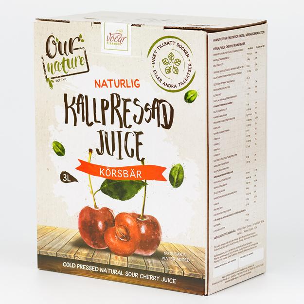 Kallpressad Körsbärsjuice, Bag-in-Box 3l