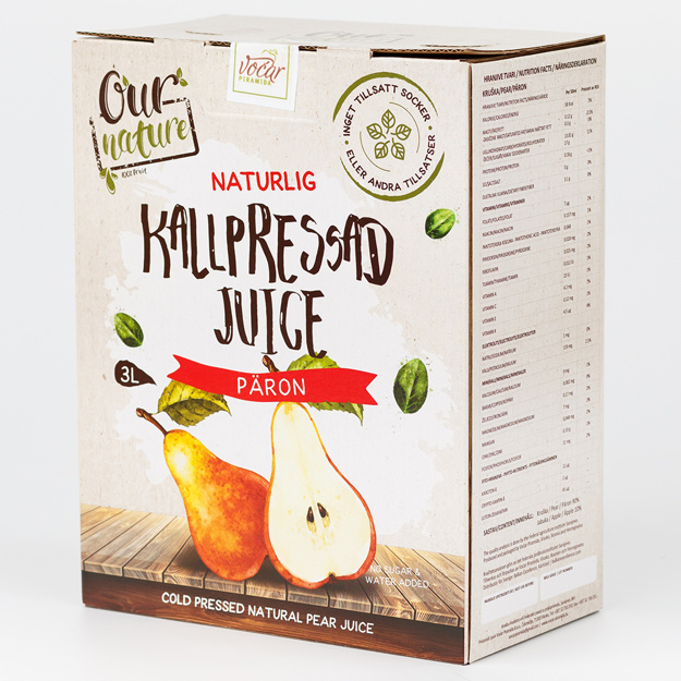 Kallpressad Päronjuice, Bag-in-Box 3l