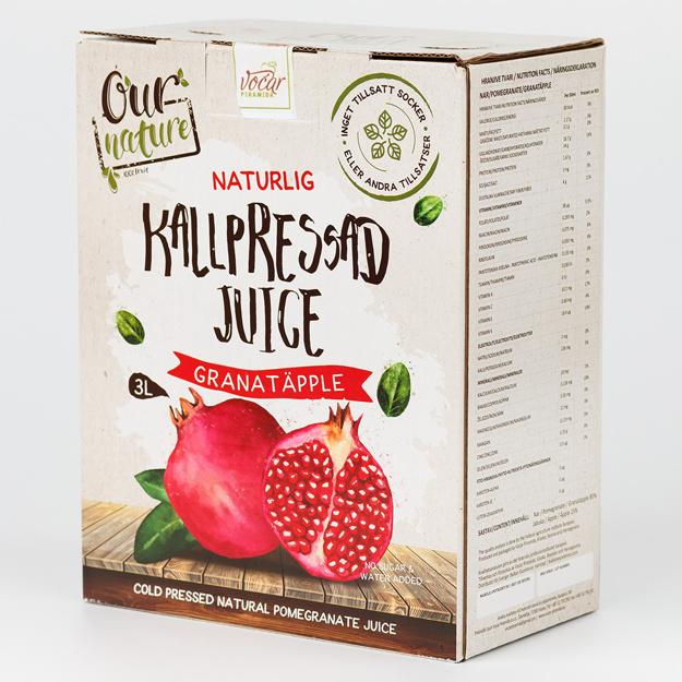 Kallpressad Grnatäppeljuice, Bag-in-Box 3l
