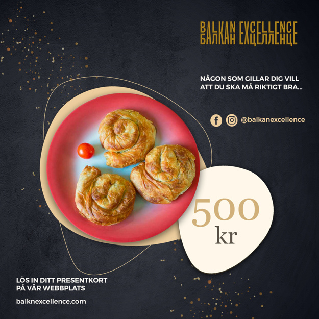 Balkan Excellence Presentkort - 500 kr