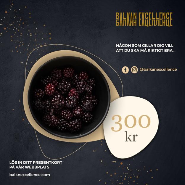 Balkan Excellence Presentkort - 300 kr