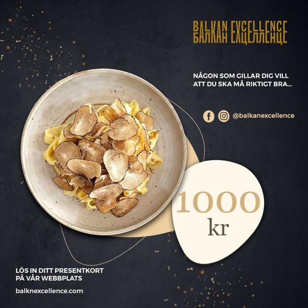 Balkan Excellence Presentkort - 1 000 kr