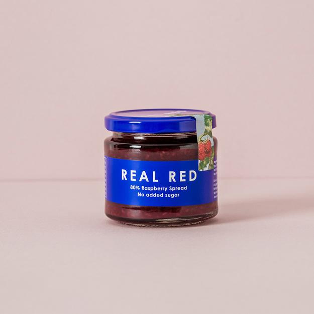 Real Red Raspberry Fruktpålägg med 80% Hallon 200g