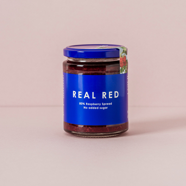 Real Red Raspberry Fruktpålägg med 80% Hallon 312g